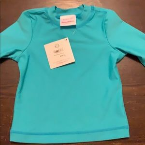 Hanna Andersson NWT swim sunguard blue top, size 2